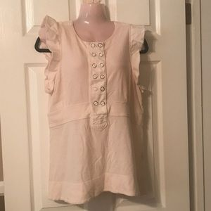 MARC JACOBS off white ruffle top size L